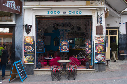 79108 Zoco Chico Fast Food Restaurant At Pe Socco Square Medina Old Town Tangier Morocco Africa